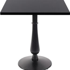 Ballad Cast Iron Square Black Dining Table
