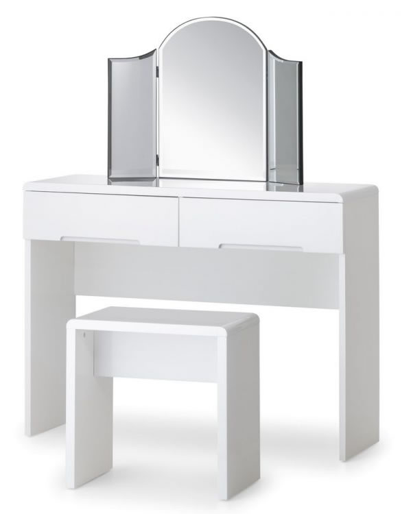Grant White High Gloss Dressing Table With 2 Drawers