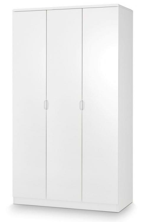 Grant White High Gloss Large 3 Door Wardrobe