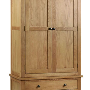 Rachel - Oak - Combination Wardrobe Solid Oak And Veneers