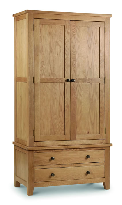 Rachel - Oak - Combination Wardrobe Solid Oak And Veneers