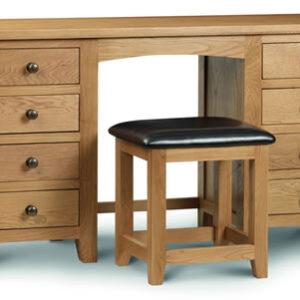 Rachel - Oak - Dressing Table - Double Pedestal - Fully Assembled