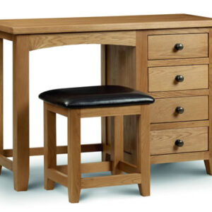 Rachel - Oak - Dressing Table - Single Pedestal - Fully Assembled