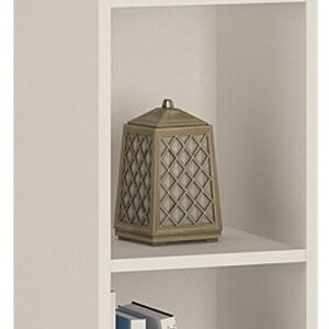 Sheek Danish Made Medium Narrow Bookcase - Pearl White - 2 Shelf