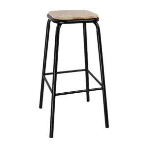 Balliol 4 X Zalerio Industrial Fixed Height Bar Stools Stackable Fully Assembled