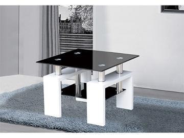 Jove Glass Side Coffee Lamp Table