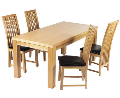 Milene Solid Oak Dining Table