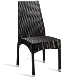 Joan Stackable Wicker Weave Outdoor Side Chair