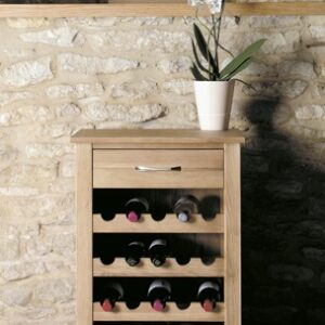 Oak Large Wine Rack / Lamp Table - Fully Assembled