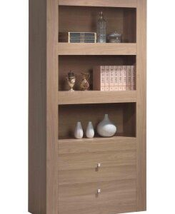 Moda Wood Display Cabinet - 3 Shelf And 2 Drawer