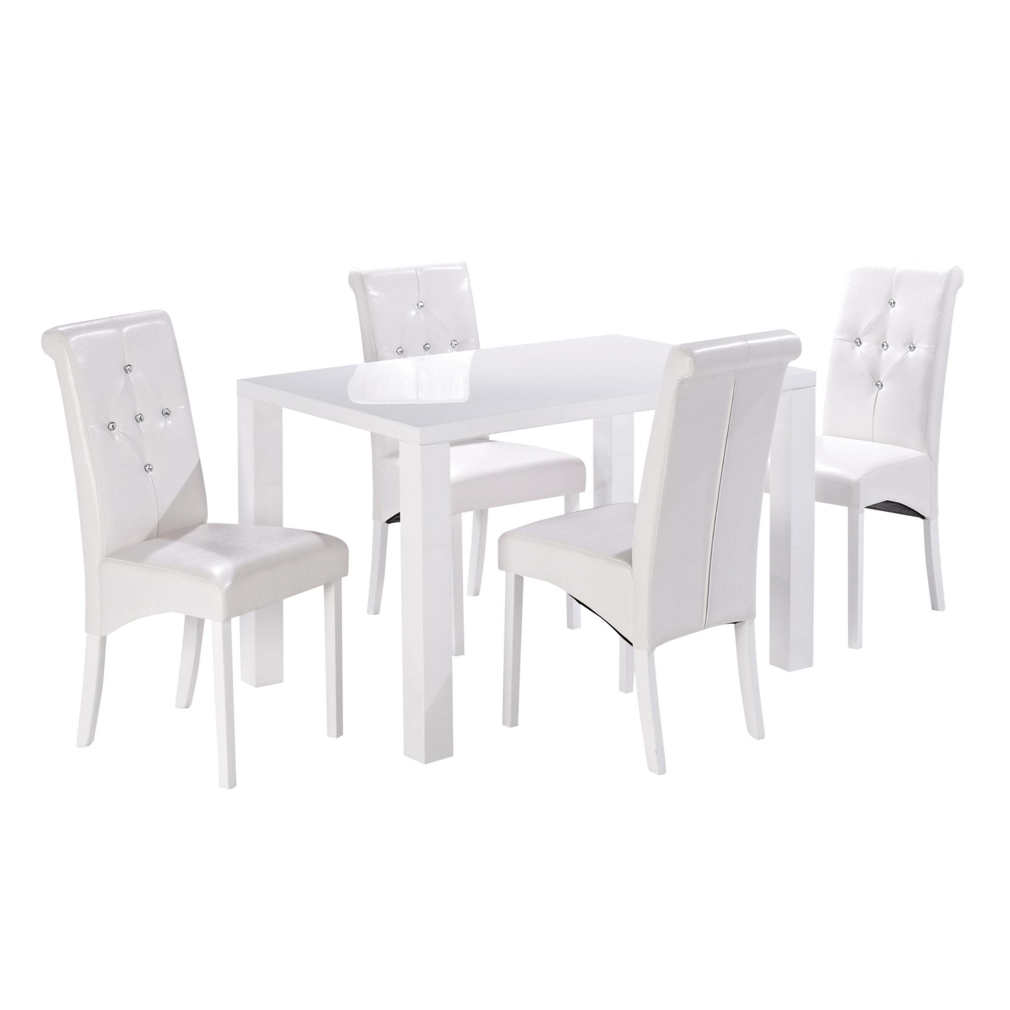Manny Medium Dining Table White