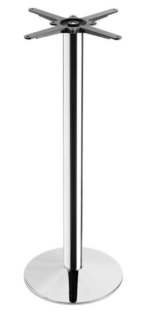 Carlo Chrome Tall Poseur Table Base