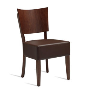 Beethoven Dark Walnut Coloured Frame With Faux Leather Padded Seat - Fully Assembled