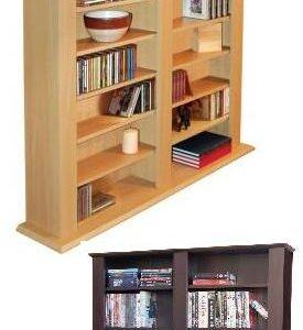 Jen Multimedia Storage Shelves - Dark Oak