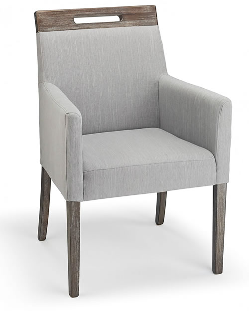 Modosi Fabric And Wood Dining Chair Grey