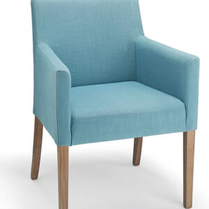 Modosi Fabric And Wood Dining Chair Teal