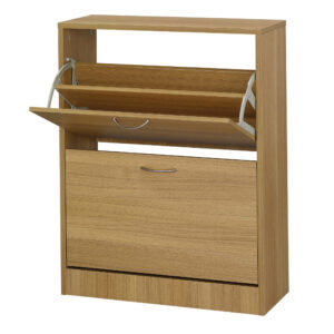 Necit 2 Drawer Shoe Storage Oak