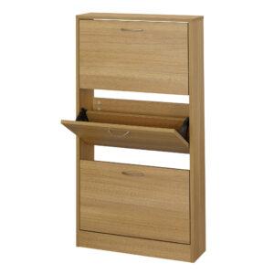 Necit 3 Drawer Shoe Storage Oak