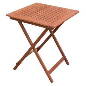 Pasene 60Cm Square Wooden Folding Garden Outdoor Table Fully Assembled