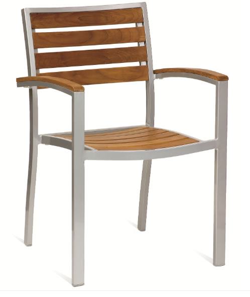 Vilan Quality Solid Teak Outdoor Chair With Arms