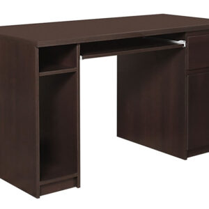Pelling Twin Pedestal Office Desk In Dark Mahogany