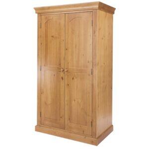 Abingdon Edwardian Style 2 Door Wardrobe With Shelf And Hanging Rail