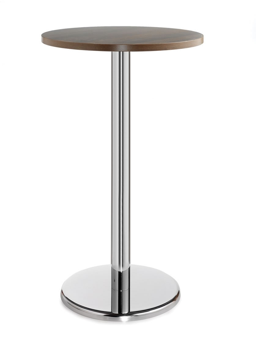 Pasan Circular Tall Poseur Table With Round Chrome Base Colour Options