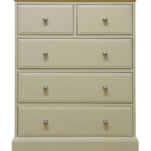Preston 2+3 Drawer Chest Painted Truffle Cream Fully Assembled