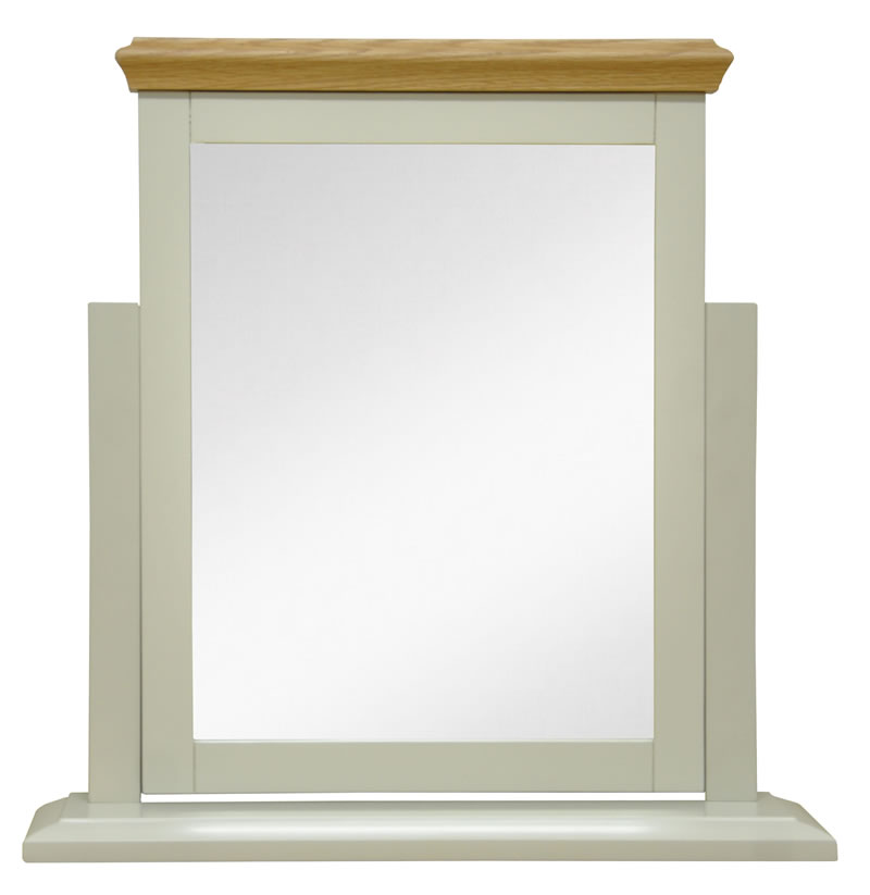 Preston Truffle Cream Painted Finish Trinket Mirror Vanity Mirror For Dressing Table