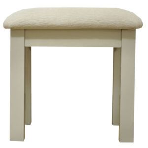 Preston Dressing Table Stool Truffle Cream Painted Finish Country Style