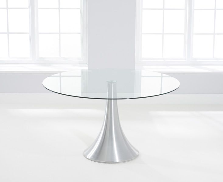 Adrian 135cm Round Glass Dining Table
