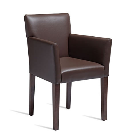 Quorum Brown Solid Beech Arm Chair - Commercial Quality Fully Assembled