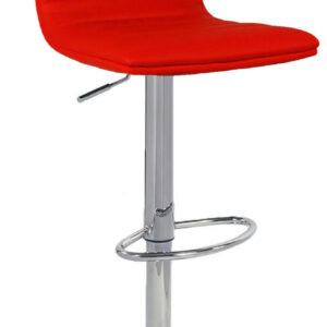 Vista Red Breakfast Bar Stool Red Padded Seat Height Adjustable