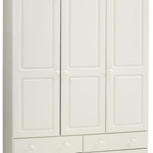Rosemond Blanco Wardrobe - 3 Door 4 Drawer