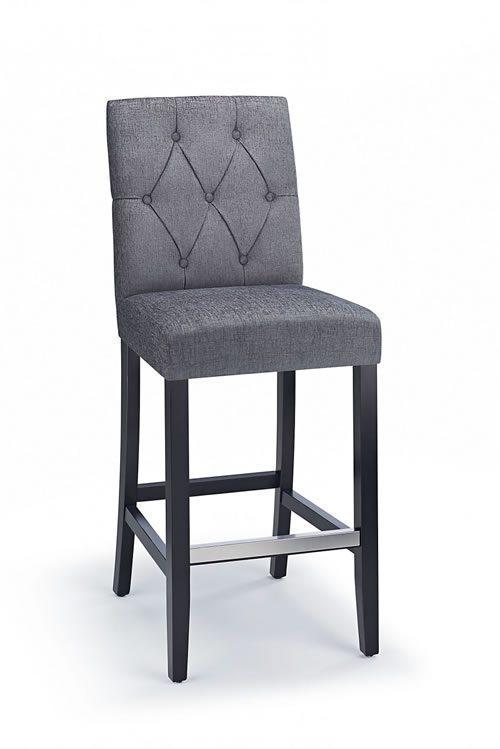 rosco black wooden kitchen bar stool  charcoal