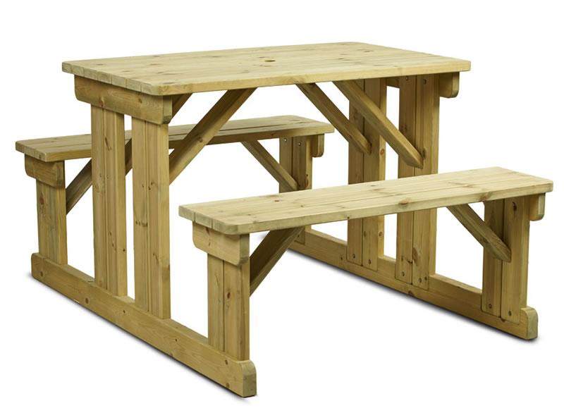 Newson Garden Outdoor Picnic Bench 6 Seater