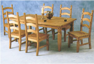 Sovereign Distressed Wax Pine Large Dining Set With 6 Chairs