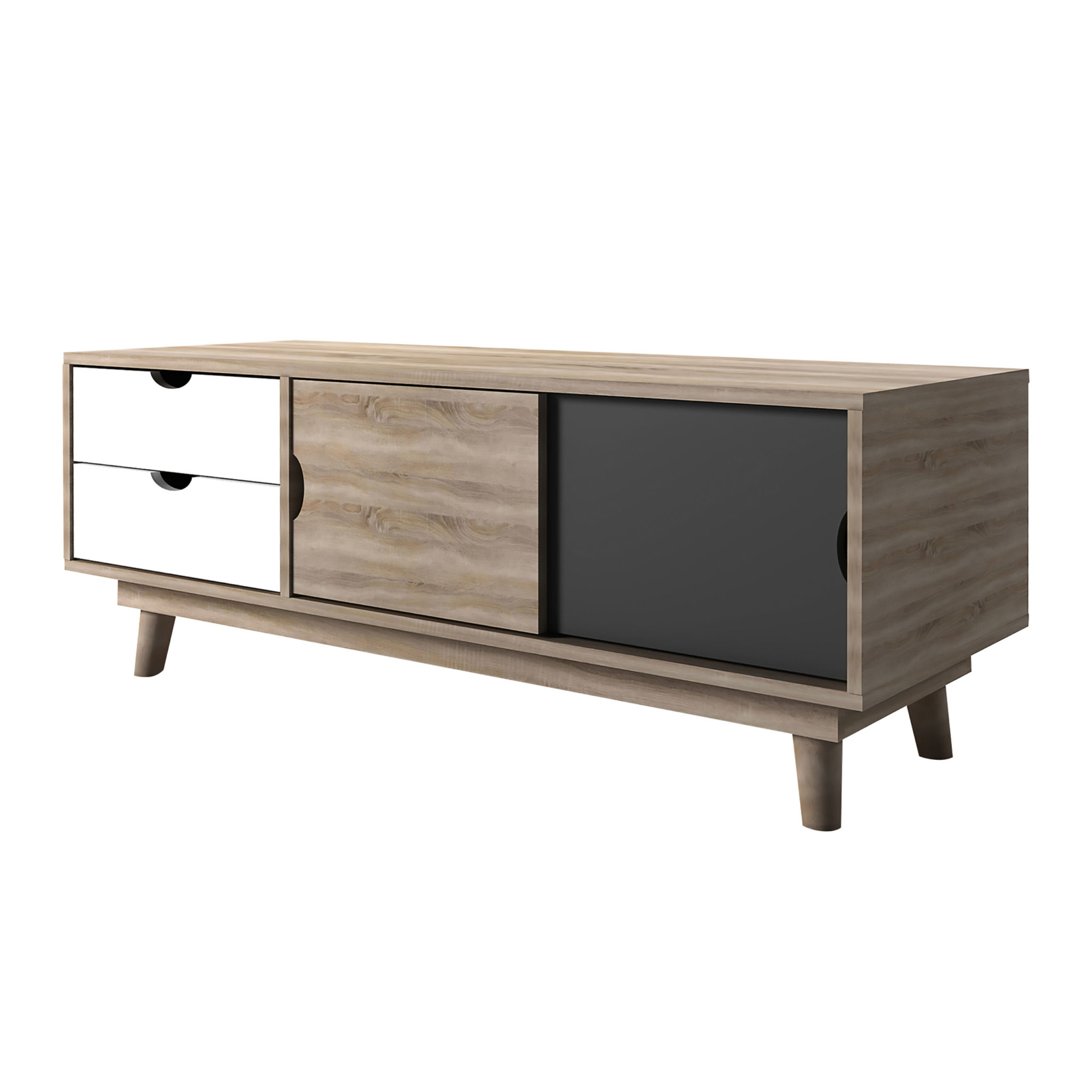 Secily Oak TV Unit Grey