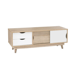 Secily Oak TV Unit White