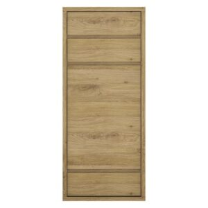 Tiamaria Glazed Wood 1 Door 3 Drawer Storage Cupboard