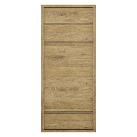 Tiamaria Glazed Wood 1 Door 3 Drawer Storage Cabinet