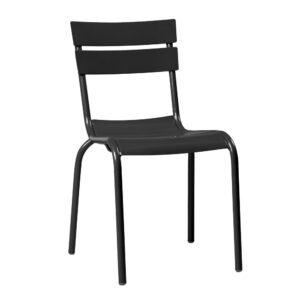 Mandel Aluminium Side Chair