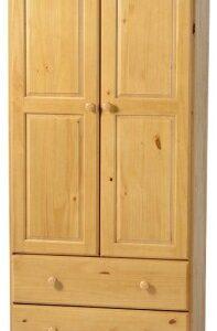 Salti Wardrobe - 2 Door 2 Drawer - Pine