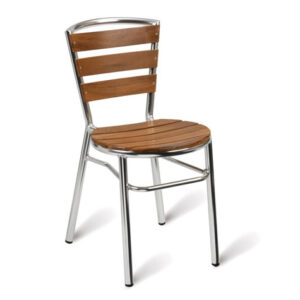 Amelia Stackable Side Chair - Commercial Quality Aluminium Frame Fully Assembled.
