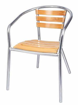 Charlottle Aluminium Stacking Garden Chairs Set Of 4