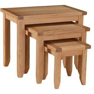 Starry Oak Nest Of Tables