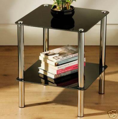 Waldone 2 Tier Glass Side Table