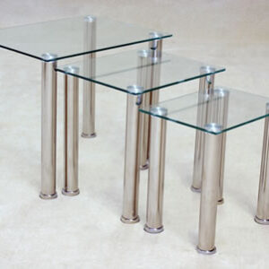 Taga Glass Clear Nest Of Tables