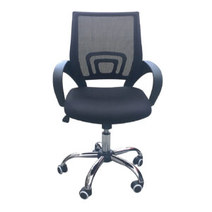 Eastner Mesh Back Office Chair Black
