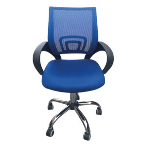 Eastner Mesh Back Office Chair Blue